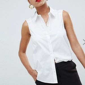 ASOS sleeveless shirt in cotton